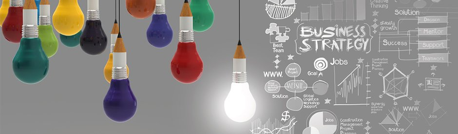 Lightbulbs illustrating What we do page - MG&Associates Marketing consultants